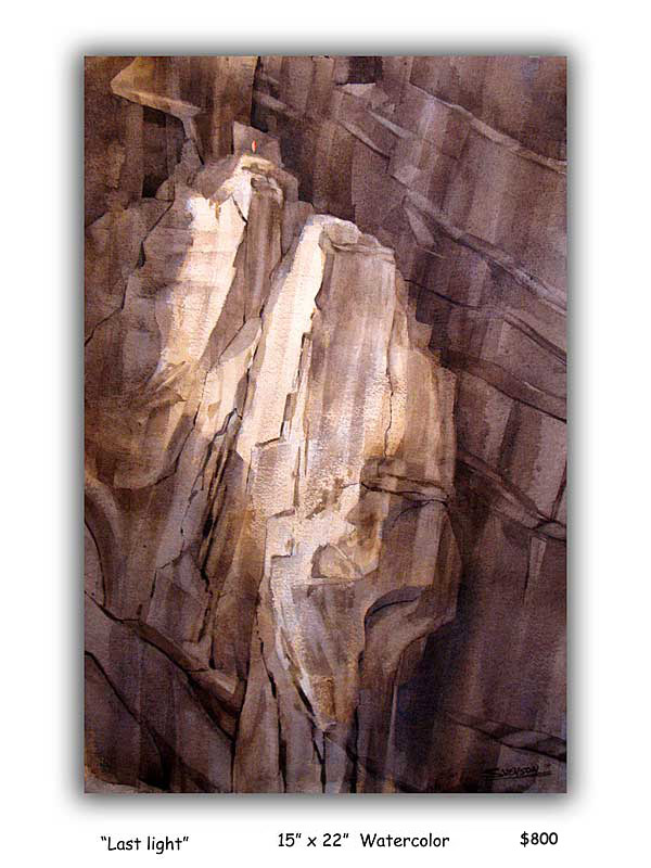 Last Light     El Cap Bivouac   (Sold)